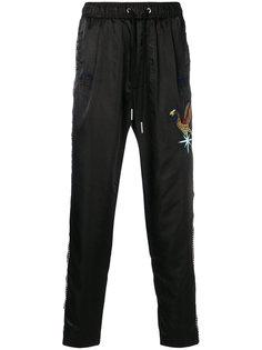 спортивные брюки с вышивкой Diesel