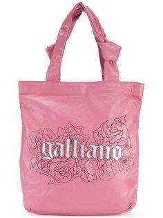 сумка-тоут с принтом логотипа John Galliano