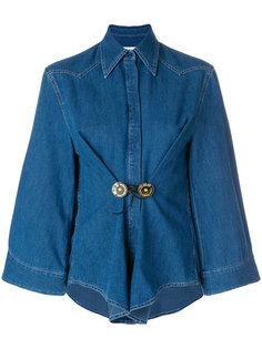 присборенная джинсовая рубашка  Mm6 Maison Margiela