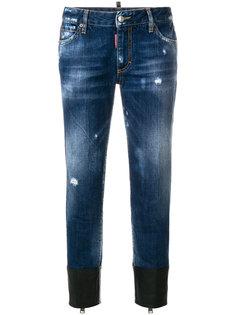джинсы с контрастными манжетами  Dsquared2