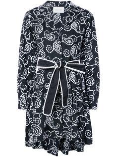 платье мини с запахом и вышивкой Alexis
