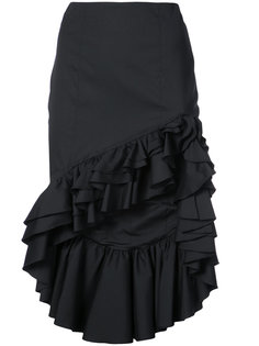 асимметричная юбка с оборками Caroline Constas
