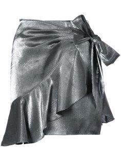 юбка мини с запахом и оборками Cinq A Sept