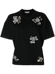укороченная футболка с отделкой  McQ Alexander McQueen