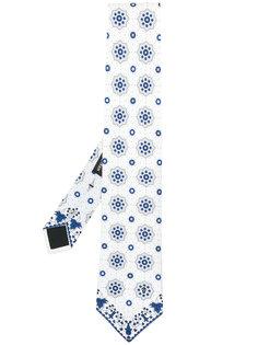 галстук с цветочным узором Alexander McQueen