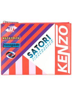 полосатый клатч с заплаткой Kenzo