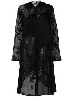 полупрозрачное платье в стиле пэчворк  McQ Alexander McQueen