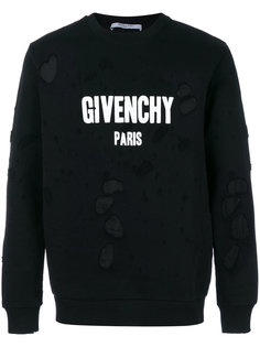 distressed logo sweatshirt Givenchy