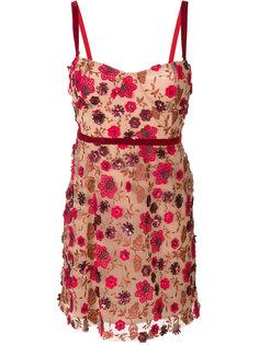 кружевное платье с отделкой  For Love And Lemons