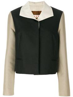 пиджак дизайна колор-блок Marni