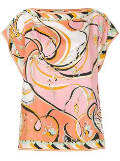 футболка с абстрактным принтом  Emilio Pucci