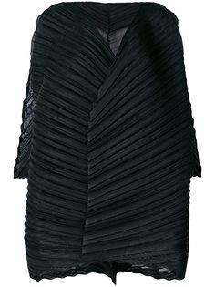 плиссированная расклешенная блузка  Issey Miyake