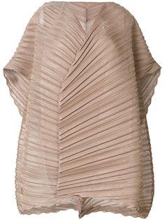 расклешенная плиссированная блузка  Issey Miyake