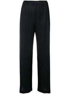 брюки с завышенной талией и складками  Pleats Please By Issey Miyake