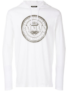 logo print hoodie Balmain