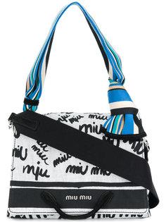монограммная сумка на плечо Miu Miu