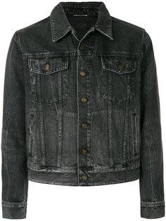 джинсовая куртка с нашивкой Saint Laurent