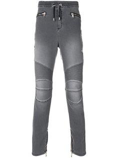 брюки в байкерском стиле Balmain