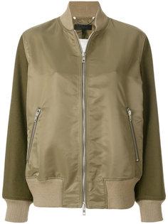 куртка-бомбер с контрастными рукавами Rag & Bone