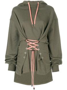 long sleeved corset hoodie Versus