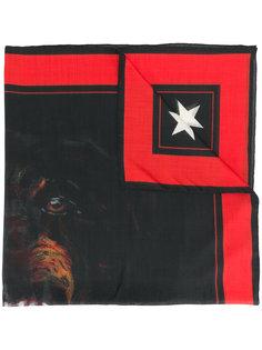 шарф с принтом собаки Givenchy