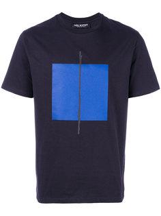 футболка с принтом квадрата Neil Barrett