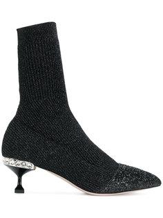 ботильоны в стиле носков Miu Miu