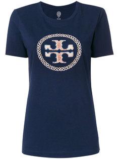 футболка с вышивкой логотипа Tory Burch