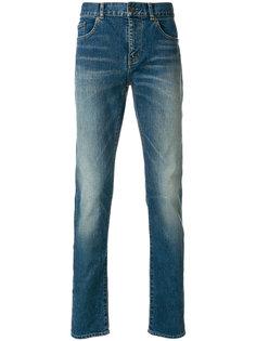 джинсы узкого кроя с выцветшим эффектом Saint Laurent