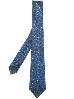 галстук с вышивкой в горох Z Zegna