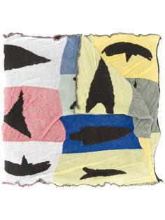 шарф дизайна колор-блок Homme Plissé Issey Miyake