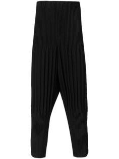 брюки в рубчик с заниженной проймой Homme Plissé Issey Miyake