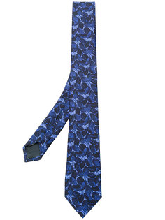 галстук с цветочной вышивкой Z Zegna