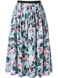 плиссированная юбка с цветочным принтом  Antonio Marras