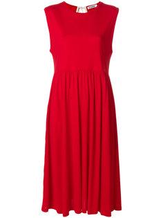 присборенное платье шифт  Jil Sander