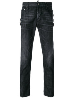 джинсы скинни с пряжками Dsquared2