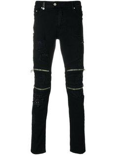 приталенные байкерские брюки Just Cavalli