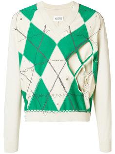 свитер с ромбовидным узором Maison Margiela
