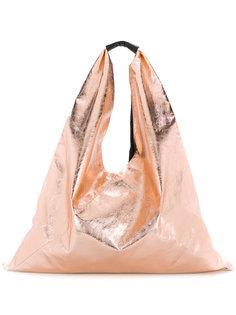 сумка-тоут с отделкой металлик Mm6 Maison Margiela