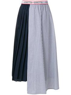 плиссированная юбка с логотипом  Vivetta