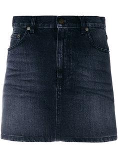 джинсовая мини-юбка  Saint Laurent
