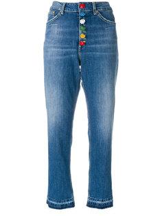 укороченные джинсы с завышенной талией Dondup