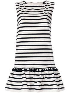 платье в полоску с помпонами   Marc Jacobs