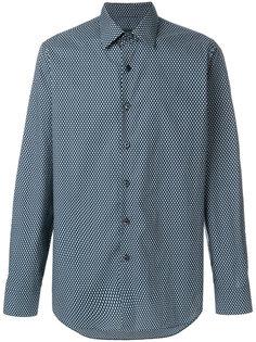 рубашка с мелким геометрическим узором Prada