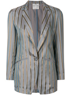 приталенный полосатый пиджак Forte Forte