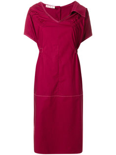 присборенное платье шифт  Marni