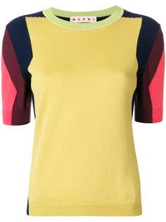 свитер дизайна колор-блок Marni