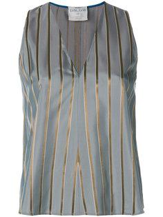 расклешенная полосатая блузка Forte Forte