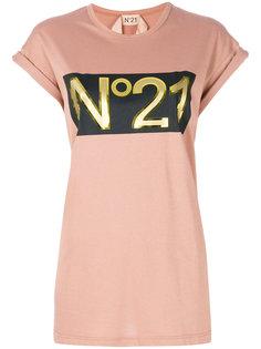 футболка свободного кроя с логотипом Nº21