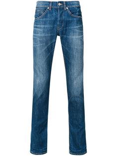 джинсы прямого кроя с потертой отделкой Dondup
